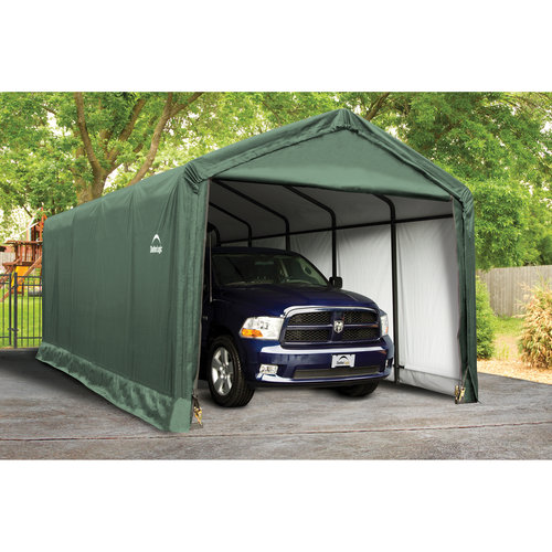 ShelterLogic ShelterTube 12' x 25' x 11' Peak Style Garage/Shelter, Green