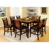 Furniture of America  Jyer Black Solid Wood 9-piece Counter Dining Set