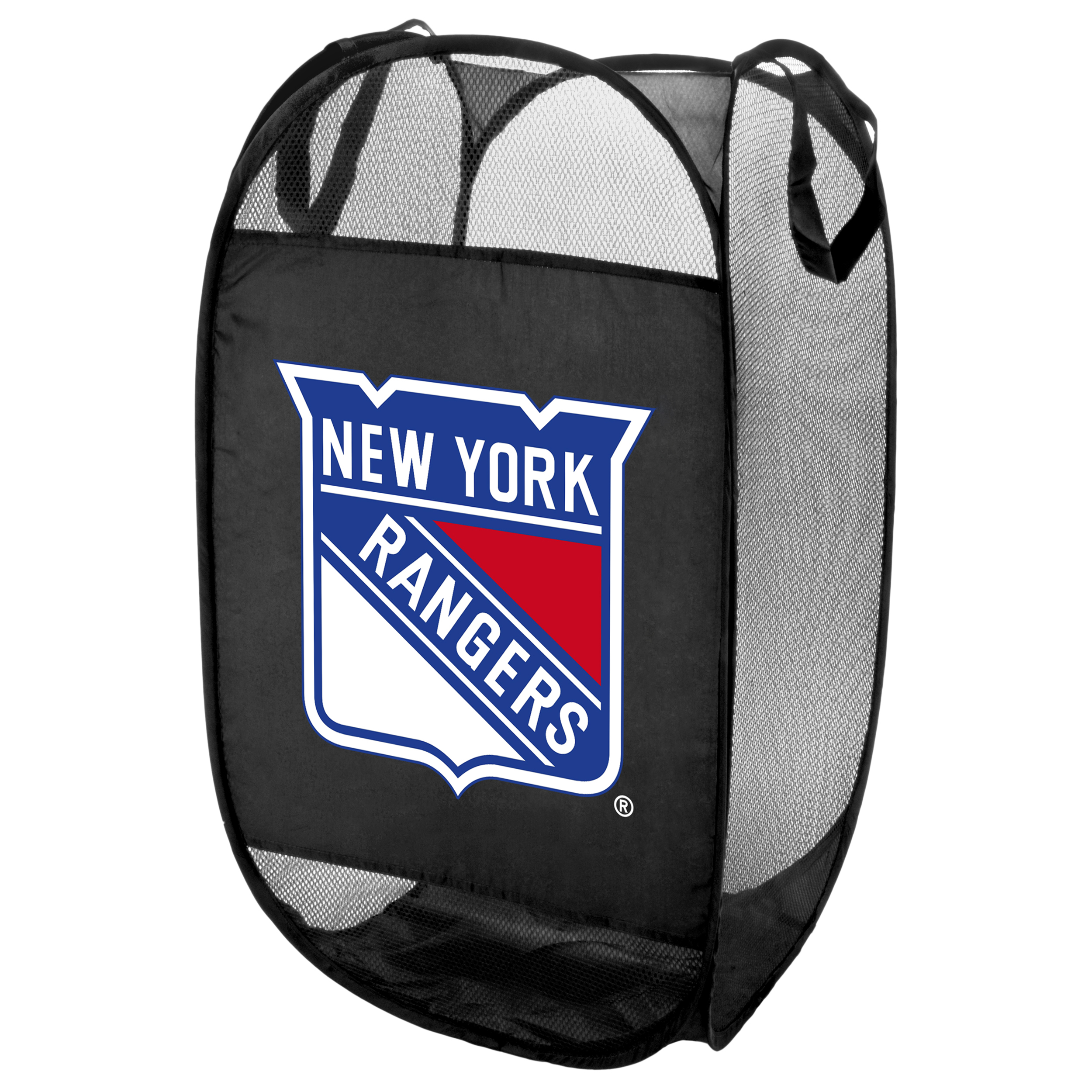 New York Rangers Official NHL Laundry Hamper Fold Up Flip Open by Forever Collectibles 050650