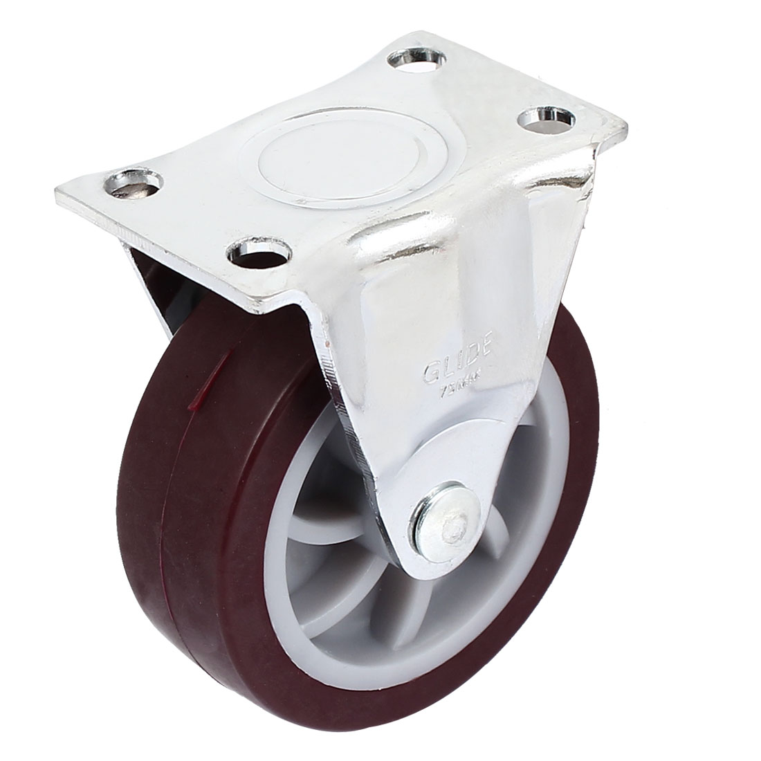 75mm Hard Rubber Base Metal Top Plate Bearing Caster Wheels