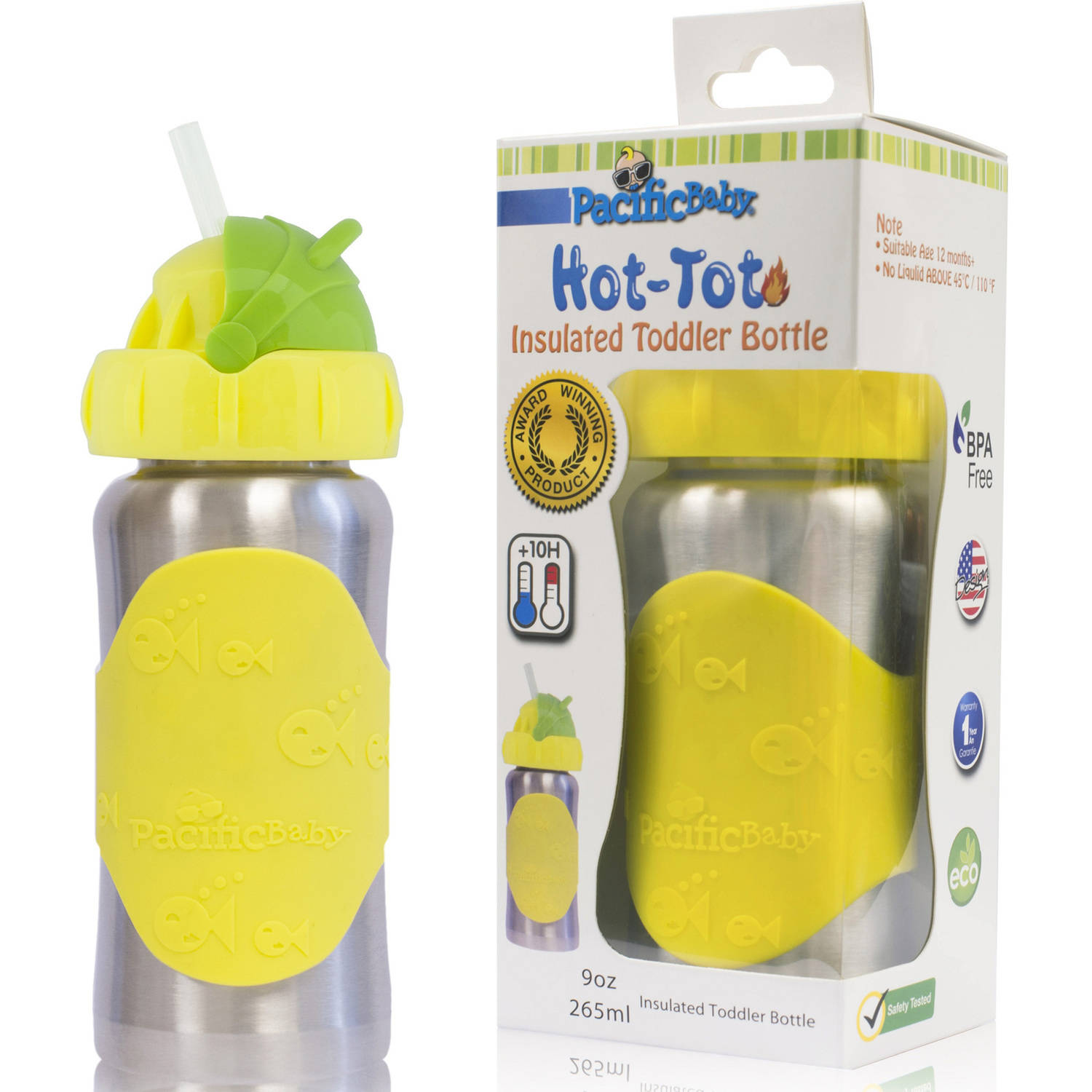 Pacific Baby Hot-Tot 9-oz Insulated Toddler Bottle