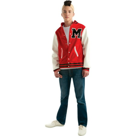 Football Player Halloween Costume Guys (Puck Glee Football Player Teen Halloween Costume - One)