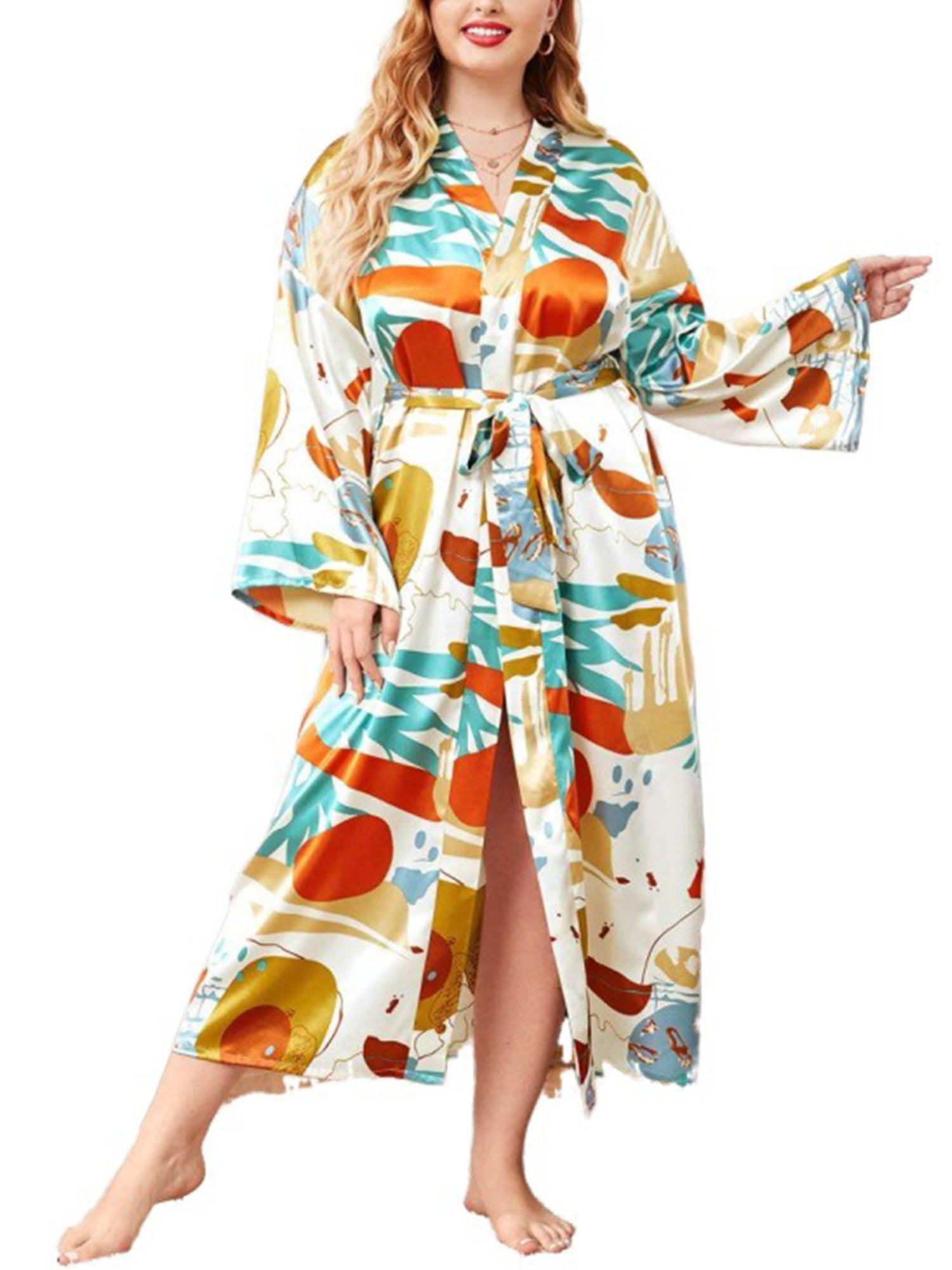 Details about  /Mens Womens Kimono Bathrobe Long Sleeve Hooded Nightgown Long Robe Sleepwear NEW