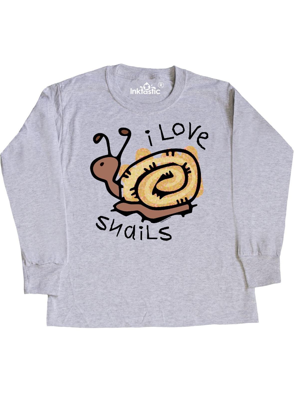 inktastic Snail Lover Girl Garden Snails Toddler Long Sleeve T-Shirt