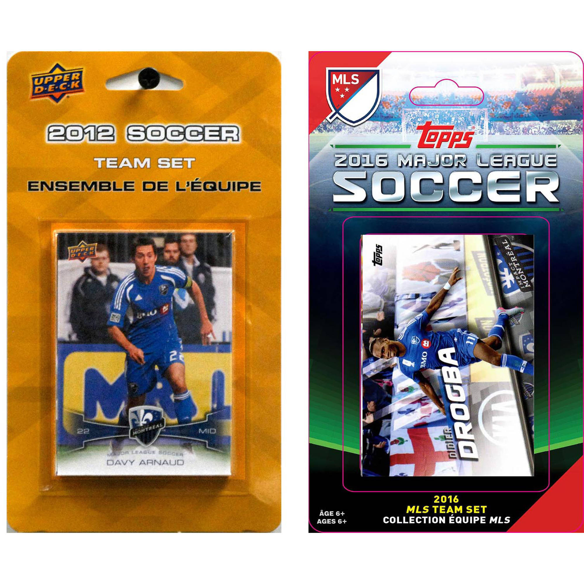C&I Collectables MLS Montreal Impact 2 Different Licensed Trading Card Team Sets