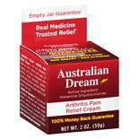 Australian Dream Arthritis Pain Relief Cream2.0 oz.(pack of 1)