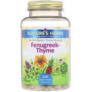 Nature's Life Fenugreek Thyme 250 mg Herbal Supplement | Immune System Formula for Respiratory & Seasonal Health Support | Non-GMO | 100 Veg Caps
