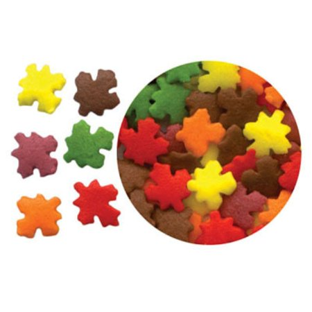 Autumn Leaves Edible Confetti Sprinkles - 2 6 oz - PHO Free
