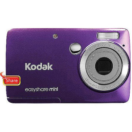 Kodak EasyShare Mini M200 Purple 10MP Digital Camera w/ 3x Optical Zoom, 2.5  LCD Display Kodak EasyShare Mini M200 10MP Digital Camera:10 megapixel resolutionDelivers excellent picture qualityKodak 29-87mm zoom lensFeatures a 3x optical zoom2.5  TFT LCD displayEnjoy easy focus selection and photo viewingAVI movie file formatRecord movies with VGA quality on this compact camera16 scene modesProvide creative options for taking eye-catching photos with accurate colorKodak Share buttonUpload photos to Kodak Gallery, Facebook, Twitter, YouTube, Flickr and moreMemory Card Specifications: Compatible SD/SDHC memory cardsInternal Memory: 32MB1 SD/SDHC Slot