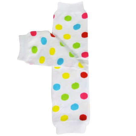 Colorful Baby Leg Warmers - ALLYDREW Colorful Baby Leg Warmers, Dots Multi-Color
