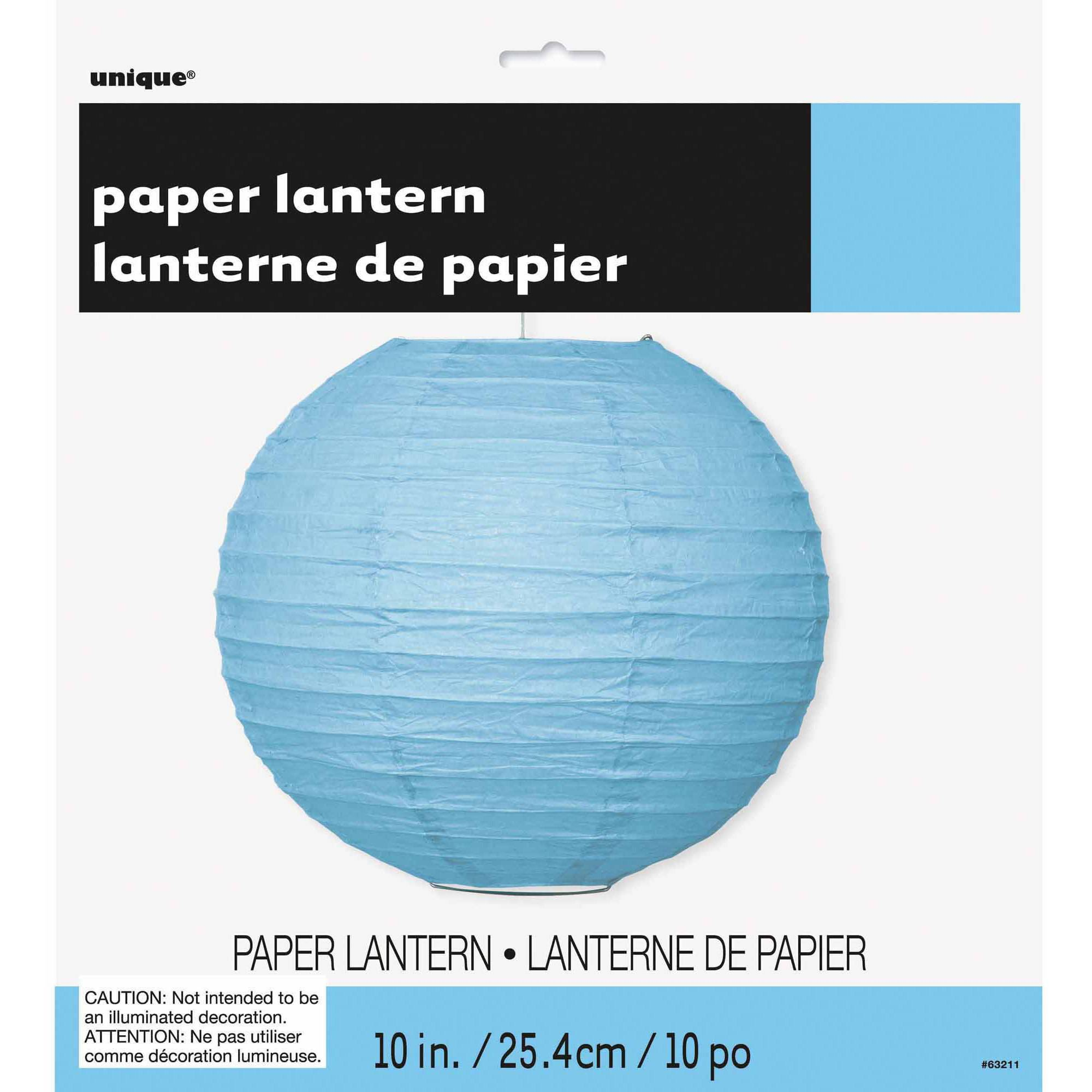 "10"" Round Light Blue Paper Lantern"