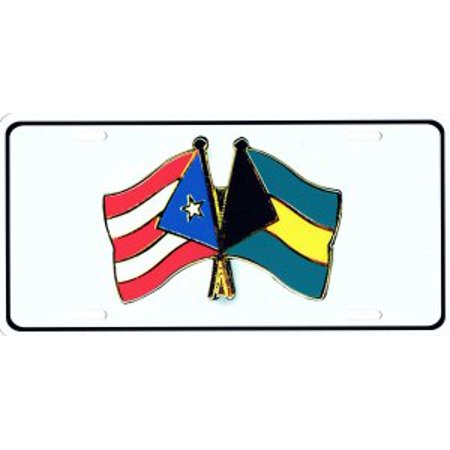 United States And Bahamas Flag Pin Photo License Plate