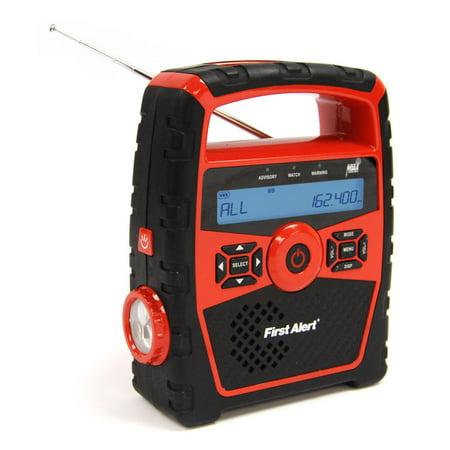 First Alert Portable AM/FM Weather Clock Radio w/Alert ()