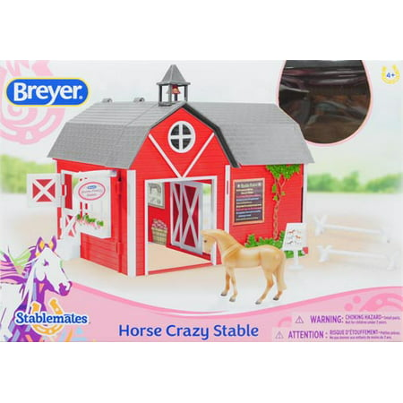 Horse Crazy Stable Red - Crazy Action Contraptions