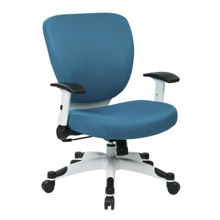 Managers Chair With Padded Mesh Seat And Back Height Adjustable Flip Arms An