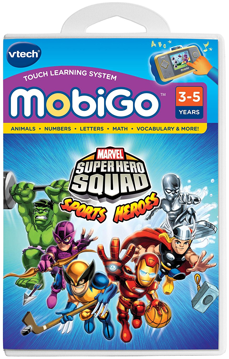 - MobiGo Software Super Hero SquadTeaches shapes, colors, letters, spelling, vocabulary,... by