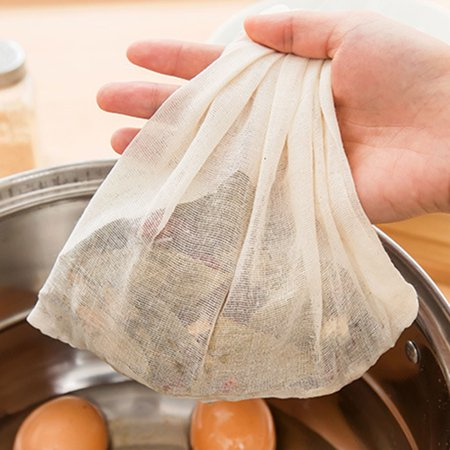 Reusable Milk Tea Strainer Bag Coffee Filter Cheese Mesh Cloth High Quality