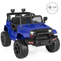 Best Choice Products 12V Kids Ride-On Truck Car w/ Parent Remote Control, Spring Suspension, LED Lights, AUX Port - Black