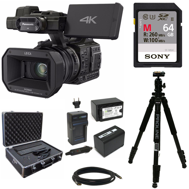 Panasonic HC-X1000 4K Cinema Camcorder + Sony 64GB Memory Card + Accessory Bundle