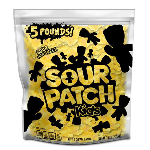 Sour Patch Kids Lemon Soft Chewy Candy Just Yellow 5 Lb Party Size Bag Walmart Com Walmart Com