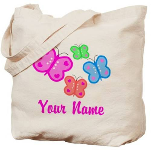 Cafepress Personalized Butterflies Tote Bag