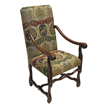 Chateau DuMonde Coat of Arms Dining Arm Chair