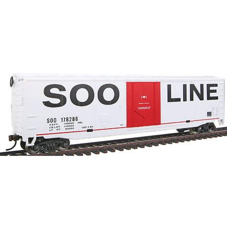 Walthers Trainline HO Scale 50' Plug-Door Boxcar Freight Car Soo Line