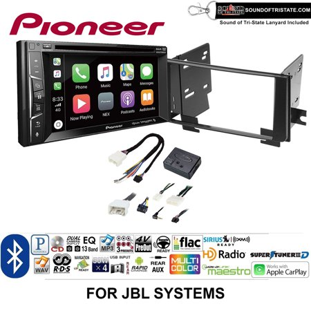 Pioneer AVH-1440NEX Double Din Radio Install Kit with Apple CarPlay, Bluetooth, HD Radio Fits 2003-2009 Toyota 4Runner with Amplified System + Sound of Tri-State