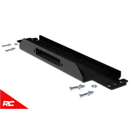 Rough Country Winch Mounting Plate compatible w/ 1987-2006 Jeep Wrangler TJ LJ YJ - Jeep Wrangler Winch Mounting