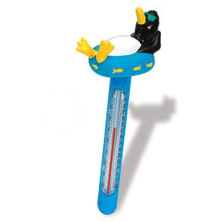 HydroTools by Swimline Soft Top Penguin Floating Pool Thermometer and Cord