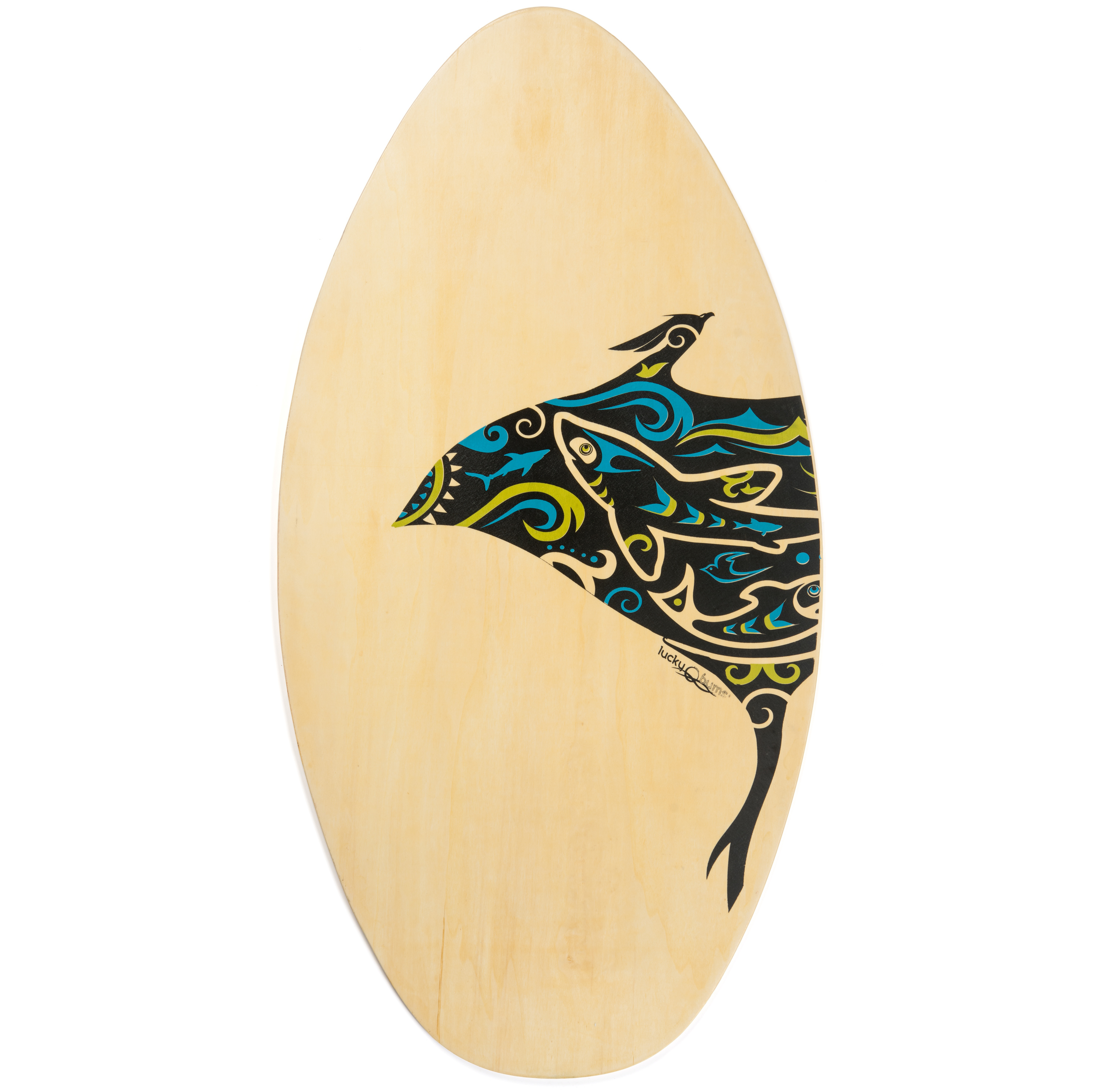 Lucky Bums Skim Board for Kids and Adults, Ray, 39-inch