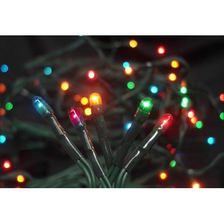 set of 20 battery operated multi color micro rice christmas lights green wire