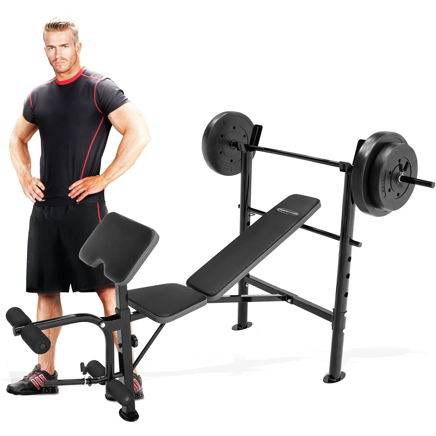 Marcy Competitor Combo Bench with 80 lbs Weight Set, CB-20110