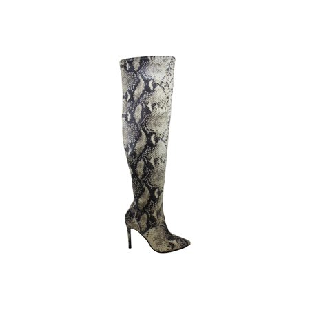 Guess Women's Shoes Baylie Fabric Pointed Toe Knee High Fashion Boots