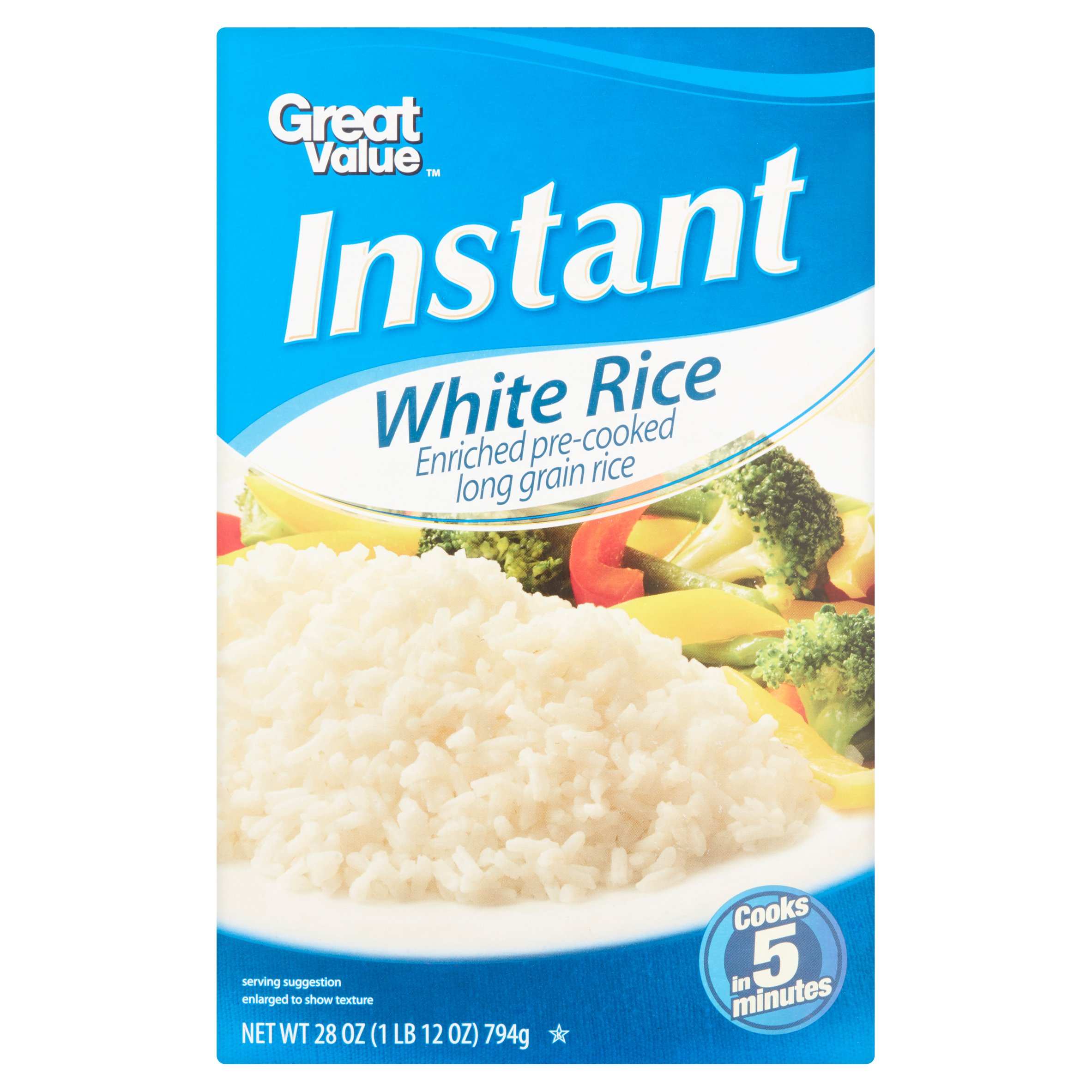 Great Value Instant White Rice, 28 oz by Wal-Mart Stores, Inc.
