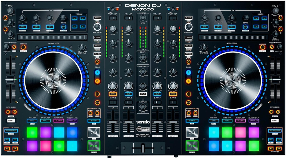 Click here to buy Denon DJ MC7000 | Premium 4-Channel DJ Controller & Mixer with Dual USB Audio Interfaces... by inMusic Brands, Inc.