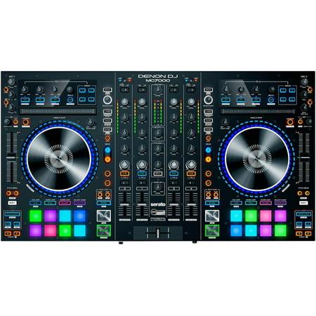 Denon DJ MC7000 | Premium 4-Channel DJ Controller & Mixer with Dual USB Audio Interfaces and full Serato DJ download (Dj Mixer And Controller)