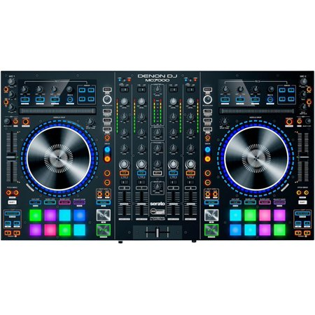 Denon DJ MC7000   Premium 4-Channel DJ Controller & Mixer with Dual USB Audio Interfaces and full Serato DJ download