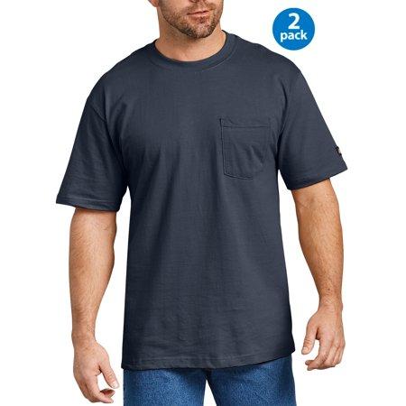 Dixie Tee Shirts - Men's Short Sleeve Heavy Weight Pocket T-Shirt, 2-Pack