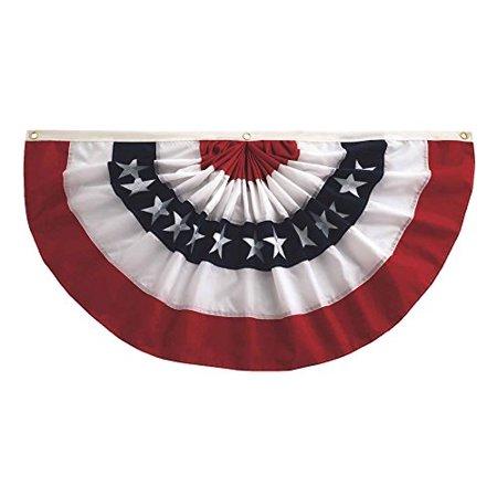 Cotton Full Pleated Fan (In the Breeze Pleated Fan Patriotic Bunting, 2' x)