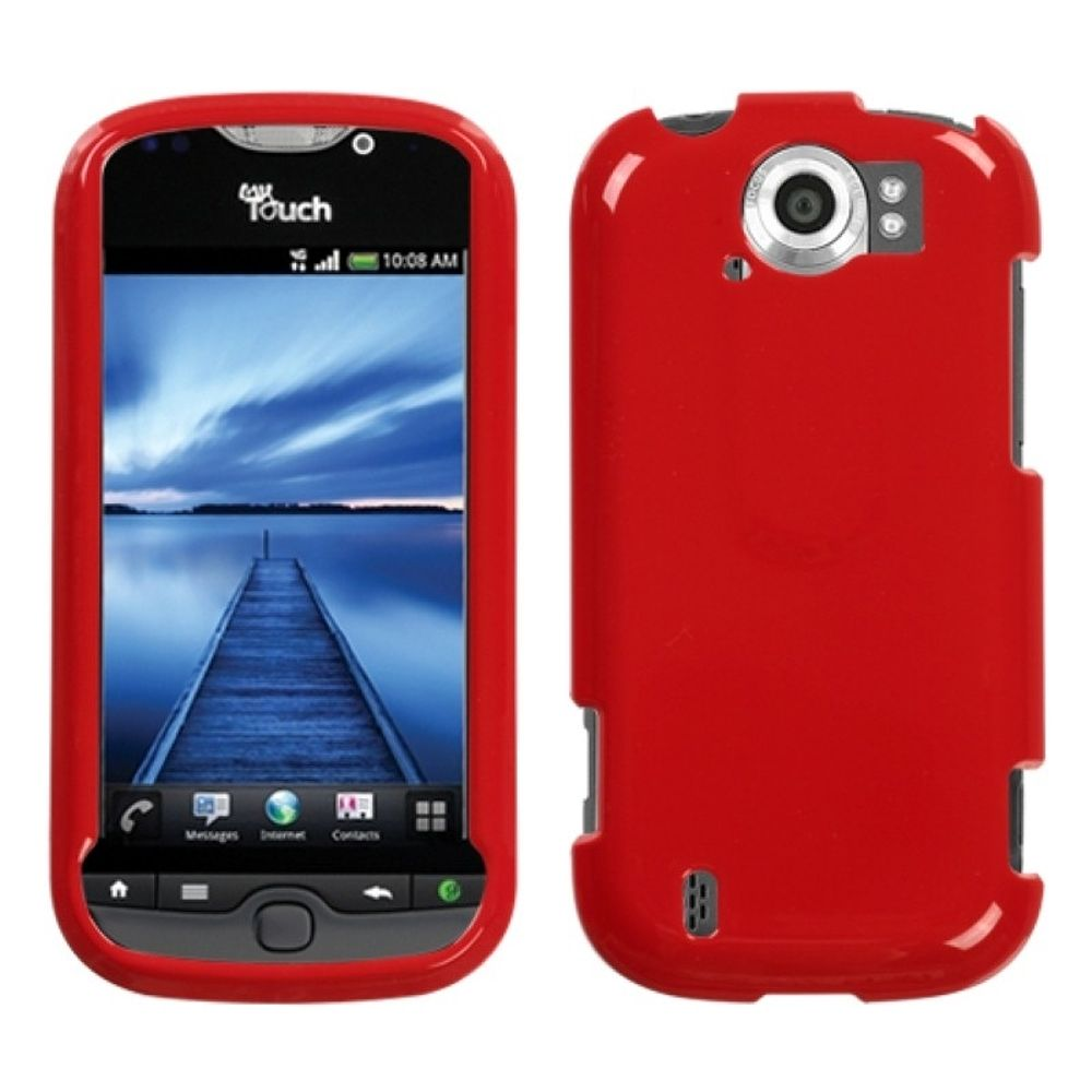 Insten Solid Flaming Red Phone Case for HTC: myTouch 4G Slide