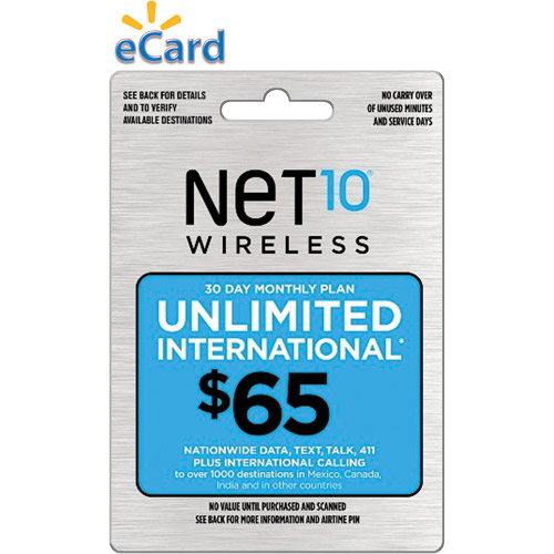 (Email Delivery) NET10 30-Day Access Unlimited* Nationwide and International Card