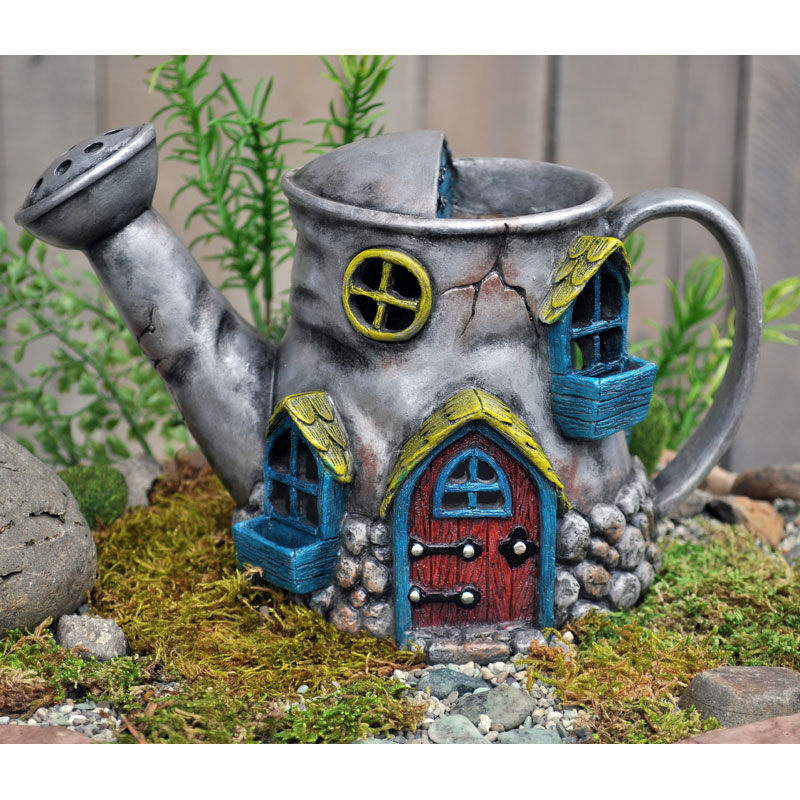 Old Watering Can Fairy Home