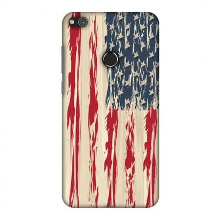 Huawei P8 Lite 2017 Case, Premium Handcrafted Printed Designer Hard Snap on Shell Case Back Cover for Huawei P8 Lite 2017 - USA flag- Paint splashes