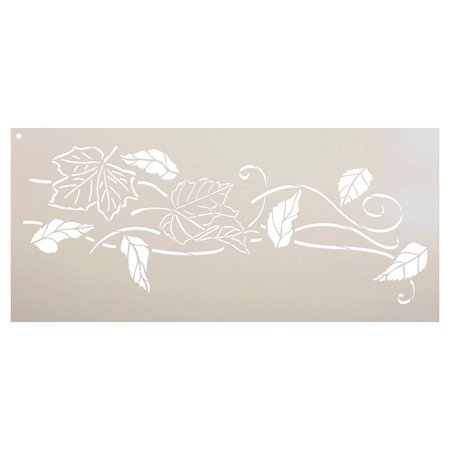 - Blowing Leaves Stencil by StudioR12 | Reusable Mylar Template | Autumn Style - Use to Paint Wood Signs - Wall Art - Pallets - DIY Fall Home Decor - Select Size (30