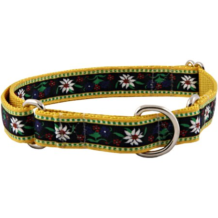 Country Brook Design® Edelweiss Designer Ribbon Martingale Dog Collar