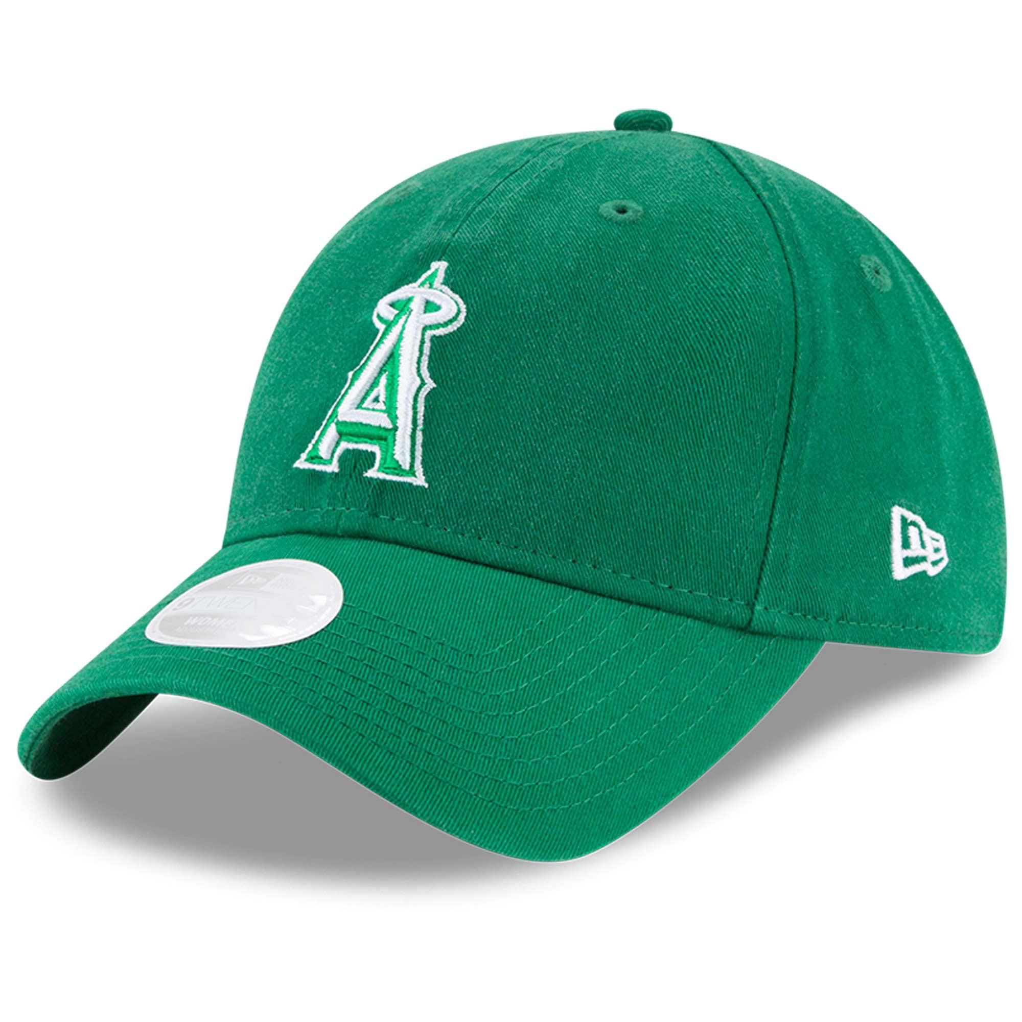 Los Angeles Angels New Era Women's Core Classic Twill St. Patrick's Day 9TWENTY Adjustable Hat - Green - OSFA