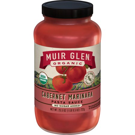 Cabernet Wine Sauce - Muir Glen Organic Cabernet Marinara Pasta Sauce 25.5 oz.