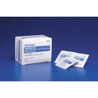 Webcol lcohol Prep Pad Isopropyl Alcohol, 70%, Individual Packet, Large, Sterile, Case of 4000