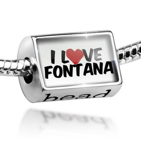 Bead I Love Fontana Charm Fits All European - Party City Fontana